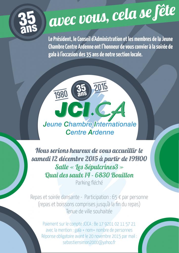 Invitation 35 ans JCI Centre Ardenne